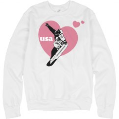 USA Snowboard Heart