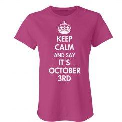 It's a Calm October 3rd