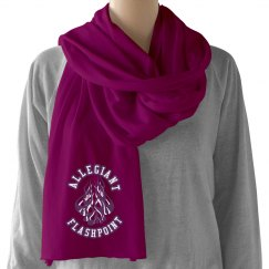White on Purple Flashpoint Scarf