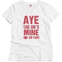 Aye He's Mine Fan Tee