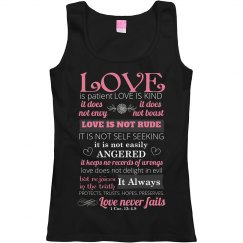 Love Is Patient 1 Cor: 4-8 Tank