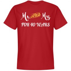 Mr & Mrs for 40 years