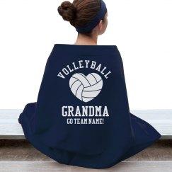 Volleyball Grandma Blanket