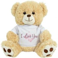 I Love You Bear Hearts