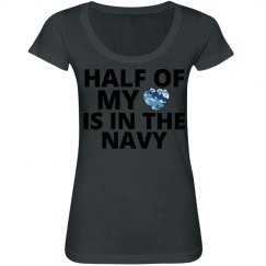 Half my heart Navy