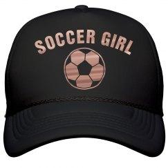 Copper Metallic Soccer Girl Hat