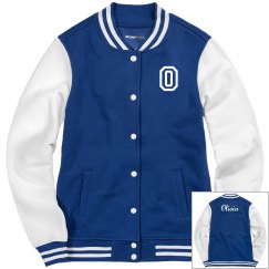 Ladies Sport-Tek Fleece Letterman Varsity Jacket