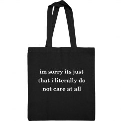 Don't Care Teen Bag