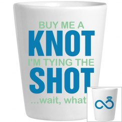 tying the knot shot glass