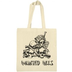 Halloween Haunted Hills Tote Bag