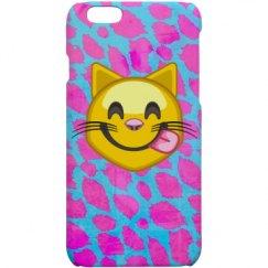 Pink Cheetah Emoji Cat Case