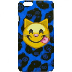 Blue Cheetah Emoji IPhone Cases
