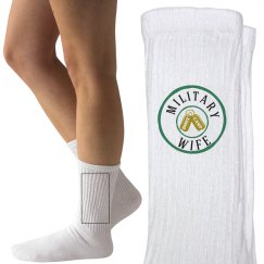 Military wife socks