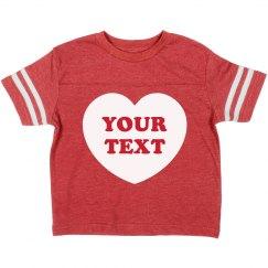Custom Valentine's Heart For Girls
