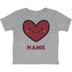 Custom Name Toddler Valentine Tee