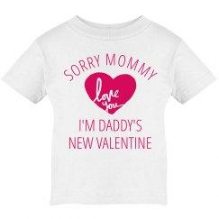 Daddy's Valentine Baby Girl Tee