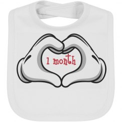 Baby Bib by Month 1 mth