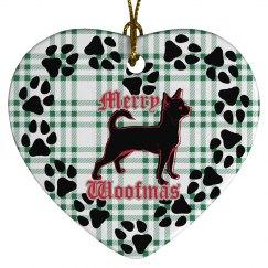 Merry Woofmas green heart