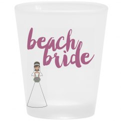 Beach Bride Shot Glass