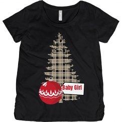 Baby Girl Christmas Maternity Top