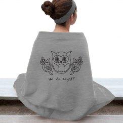 Retro Owl and Roses 1
