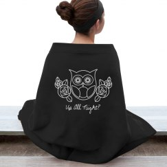 Retro Owl and Roses 2