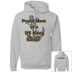 Proud Navy Mom Hoodie