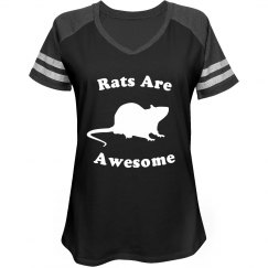 Rats are Awesome Jersey Tee