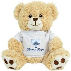 Simple Hanukkah Gift Bear
