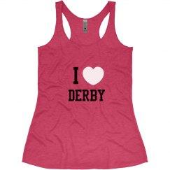 I Heart Derby Women's Tank