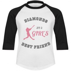 Diamonds - Girl's Sports Tee
