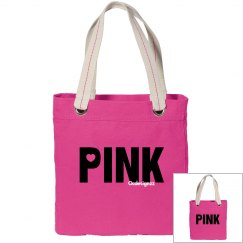Love Pink Canvas Bag