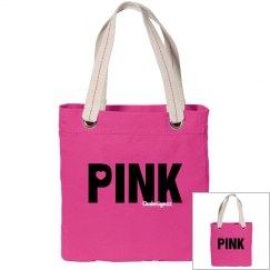 Love Pink Canvas Bag
