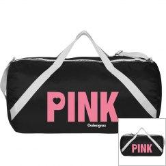 Love Pink Black Duffle Bag