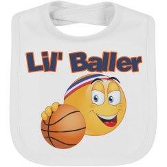 Emoji Lil Baller Baby Bib