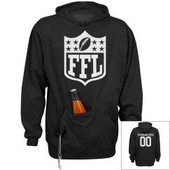 Fantasy Football Team Party Hoodie With Custom Back