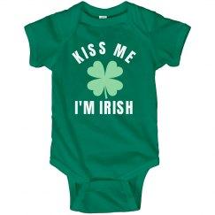 Kiss Me I'm Irish Green Baby