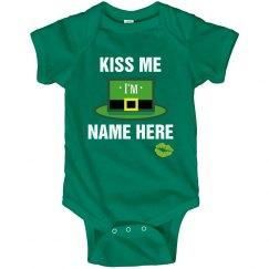 Custom Baby's Kiss Me Irish