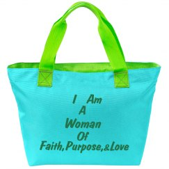 WOF Tote Bag(Green/Blue)