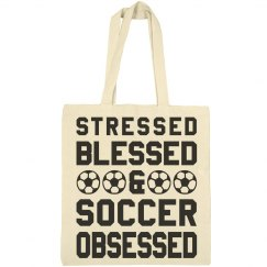 Stressed Bless Soccer Mom Tote