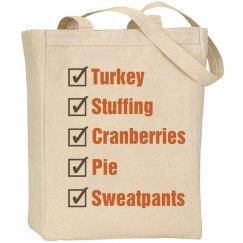 Thanksgiving Shop List