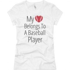My Heart Belongs Baseball Player