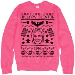 Hillary Ugly Christmas