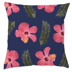 Perfectally Pink Flower Pillow