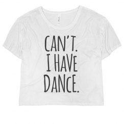 I Have Dance Jersey Crop