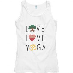 Live Love Yoga Fitness with Om Symbol Meditation