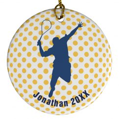 Tennis Christmas Ornament