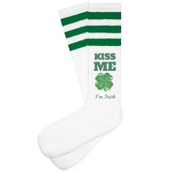 Kiss Me Irish Knee Socks