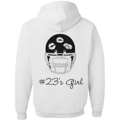 Trendy Custom Football Girlfriend Hoodie
