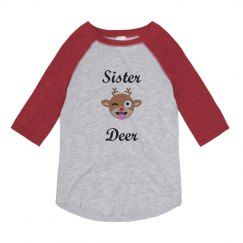 Sister Deer Custom Christmas Pajamas Shirt